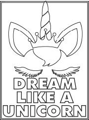 Dream Unicorn Color Page