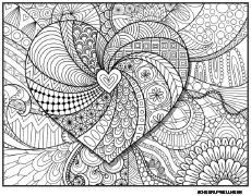 Hearts Color Page