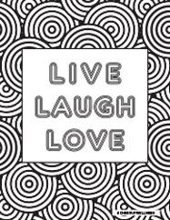 Live Laugh Love Color Page